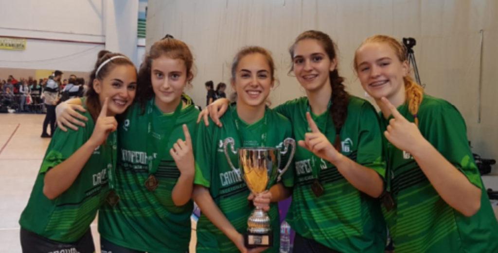 Cinco cadetes de RACA, campeonas de Andalucía con la selección granadina