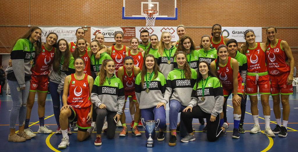 Homenaje a la selección granadina cadete, campeonas de Andalucía
