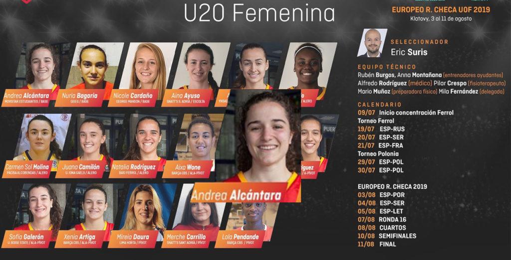 Andrea Alcántara, en la preselección española U20