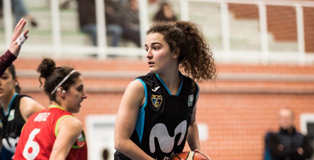 Andrea Alcántara, con la U20 en el Torneo de Ferrol