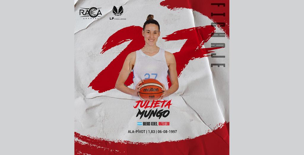 Julieta Mungo, quinto fichaje del RACA de LF Challenge